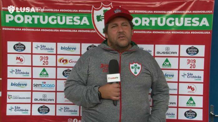 Fernando Marchiori em coletiva após a derrota para o Caxias
